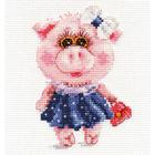 Набор для вышивания Алиса 0-183 «Свинка Тося»