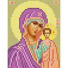 Набор для вышивания бисером Вертоградъ B735 «Пр. Богородица Казанская» 10*13 см