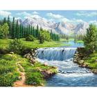Алмазная мозаика АЖ-1686  «Полдень у реки»