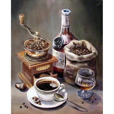 Алмазная мозаика АЖ-1434 «Кофейный набор» в интернет-магазине Швейпрофи.рф