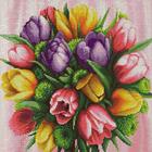 Алмазная мозаика АЖ-1705  «Букет тюльпанов»