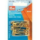 Булавки англ. Prym 071276 38 мм  (латунь) (уп 12 шт) золото