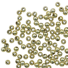Бусины Астра  7722538 пластик. металл. 6 мм (уп 15 гр) золото