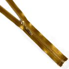 Молния TIT Т4 мет. 80 см атлас золото/горчичный