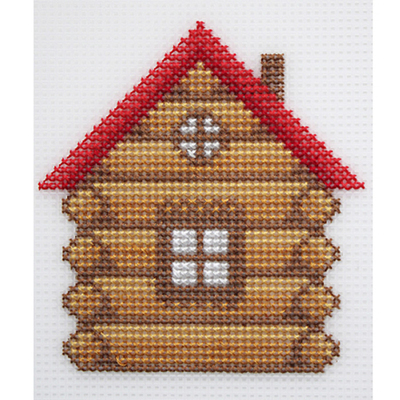 Набор для вышивания HP Kids П-0015 «Избушка» в интернет-магазине Швейпрофи.рф