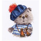 Набор для вышивания Алиса 0-190 «Басик моряк» 10*12 см