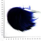 Помпон натуральный  18-20 см RUS.PNE  Енот 09 синий