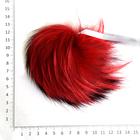 Помпон натуральный  18-20 см RUS.PNE  Енот 16 красный