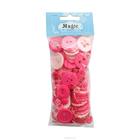 Пуговицы ассорти 7715057 «Палитра»  (Розовый) 100г/упак