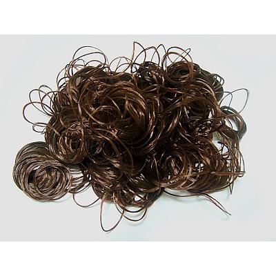 Волосы для кукол (кудри) L47-50 см h25-28 см каштановый в интернет-магазине Швейпрофи.рф