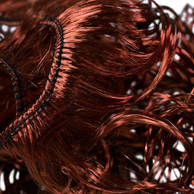 Волосы для кукол (кудри) L47-50 см h25-28 см медный в интернет-магазине Швейпрофи.рф