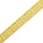 Тесьма 25 мм жаккард TRJ-66 уп. 10 м золото