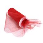 Фатин TBY.C в шпульках с глиттером шир. 150 мм  (уп. 9,14 м) 15 красный