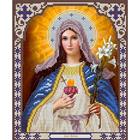Рисунок для вышивания бисером Благовест 20*25 см К-4006 Дева Мария