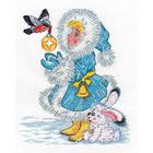 Набор для вышивания Кларт 8-178 «Снегурочка и снегирь»