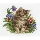 Набор для вышивания Кларт 8-209 «Котёнок в фиалках»