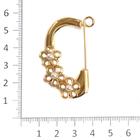 Булавка декоративная MT 1775 «3 цветка» золото