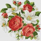 Алмазная мозаика Белоснежка на дер.осн. БЛ.329-ST-S «Розы и лилии»