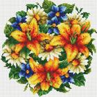 Алмазная мозаика Белоснежка на дер.осн. БЛ.332-ST-S «Букет с тигровыми лилиями»