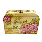 Коробка подарочная чемодан «Пионы» 3631887 25*18*9 см