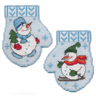 Набор для вышивания Овен №1141 «Варежка. Снеговик» 7*9 см
