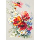 Набор для вышивания Чудесная Игла  №100-061 «Маки и ромашки» 28*39 см