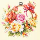 Набор для вышивания Чудесная Игла  №100-122 «Розы для мастерицы» 25*25 см