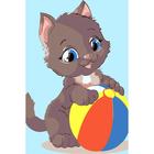 Набор для раскрашивания Цветной хамелеон MA1023 «Котенок с мячом»