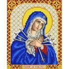 Рисунок для вышивания бисером Благовест  И-5016 Богородица Умягчение злых сердец 13,5*17см