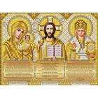Рисунок для вышивания бисером Благовест  И-5092 Триптих золото