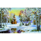 Рисунок для вышивания бисером Благовест К-3008 Зимний пейзаж 26,5*40 см
