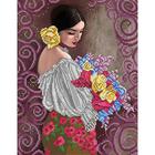 Рисунок для вышивания бисером Благовест К-3107  Прекрасный букет прекрасной женщине 27*36 см
