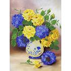 Рисунок для вышивания бисером Благовест К-3109  Розы и гортензии 27,5*37 см