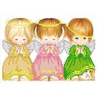 Рисунок для вышивания бисером Благовест  К-5007 Почти идеальный (девочки) 13,5*17 см