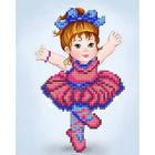 Рисунок для вышивания бисером Благовест К-5010 Балеринка 13,5*17 см