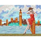 Рисунок для вышивания бисером Благовест 20*25 см К-4036 Прогулка по Лондону