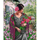Рисунок для вышивания бисером Благовест 20*25 см К-4054 Букет