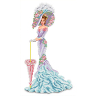 Рисунок для вышивания бисером Каролинка КБЛ-3012 «Леди с зонтиком» 24*39 см