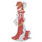 Рисунок для вышивания бисером Каролинка КБЛ-3015 «Дама с шарфом» 24*39 см
