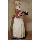 Рисунок для вышивания бисером Каролинка КБЛ-3034 «Шоколадница» 24*36 см