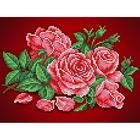 Рисунок для вышивания бисером Каролинка КБЦ-4032  «Аромат розы» 18*24,5 см