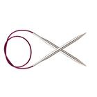 Спицы круговые Knit Pro  Nova Metal 100 см 2,25мм/  10362 никелированная латунь