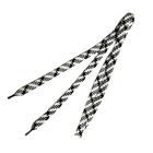 Шнурки  арт.162-П  6 мм 100 см чёрный/белый