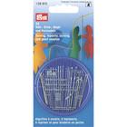 Иглы ручные PRYM 128610 для шитья,вышивки, штопки и бисера в пенале (наб. 24 шт.) 161477