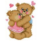Рисунок для вышивания бисером Каролинка КБЖ-5014 «Влюбленные медвежата» 12*16 см