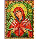 Рисунок для вышивания бисером Каролинка КБИ-4018/1 «БМ Семистрельная» 18,5*24,5 см