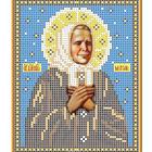 Рисунок для вышивания бисером Каролинка КБИ-5027  «Св Матрона Московская» 12,5*16 см