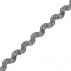Тесьма вьюнчик 5 мм (рул. 20 м)  серебро