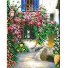 Набор для вышивания бисером Паутинка Б-1432 «Цветочная улочка» 24*30,5 см