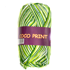Пряжа Коко принт,(Coco Vita Print) 50 г / 240 м 4653 бел-зеленый